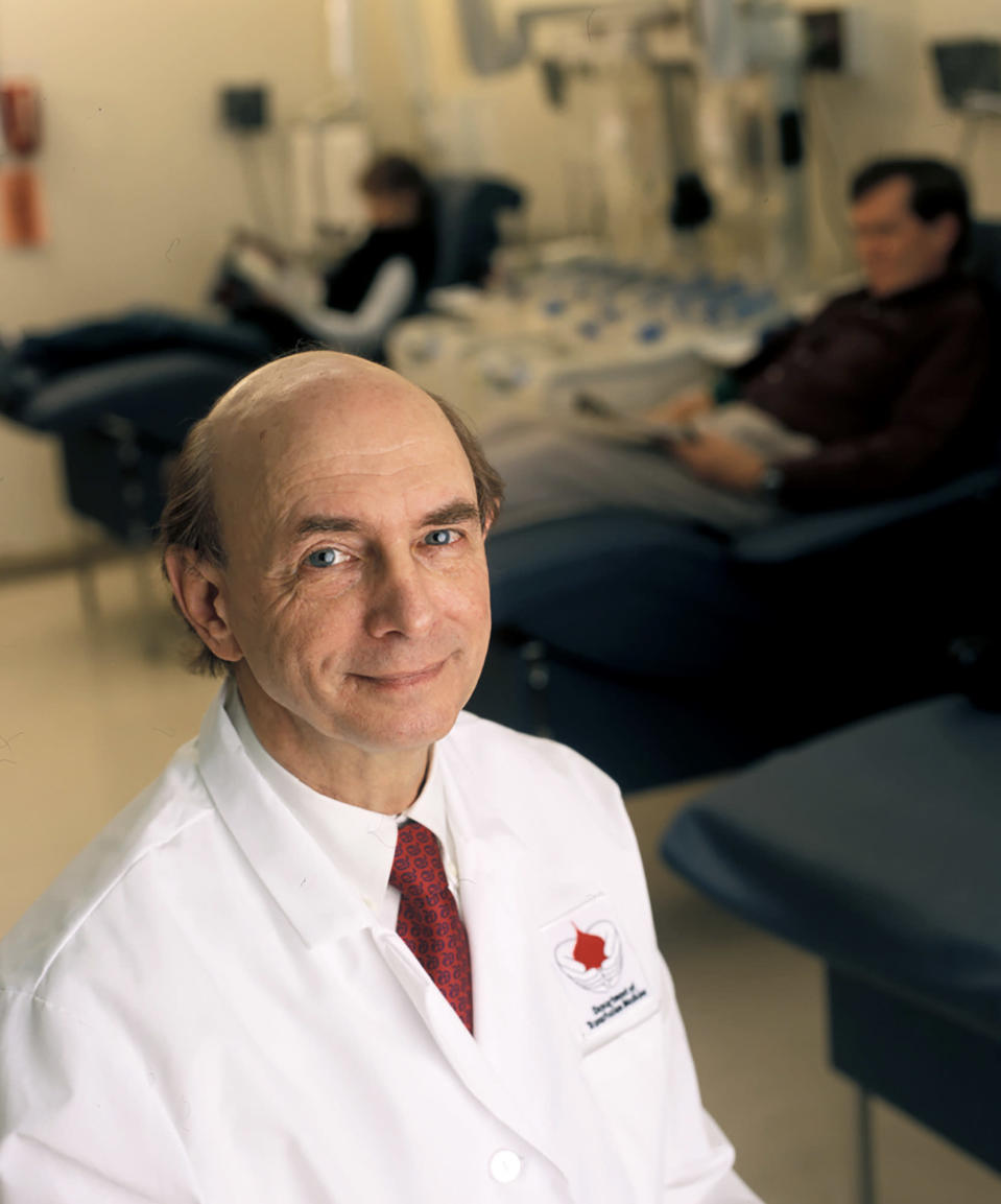 This undated photo provided by the National Institutes of Health shows Harvey J. Alter. Alter and fellow American Charles M. Rice and British-born scientist Michael Houghton jointly won the Nobel Prize for medicine on Monday, Oct. 5, 2020, for their discovery of the hepatitis C virus, a major source of liver disease that affects millions worldwide. (Rhoda Baer/National Institutes of Health via AP)