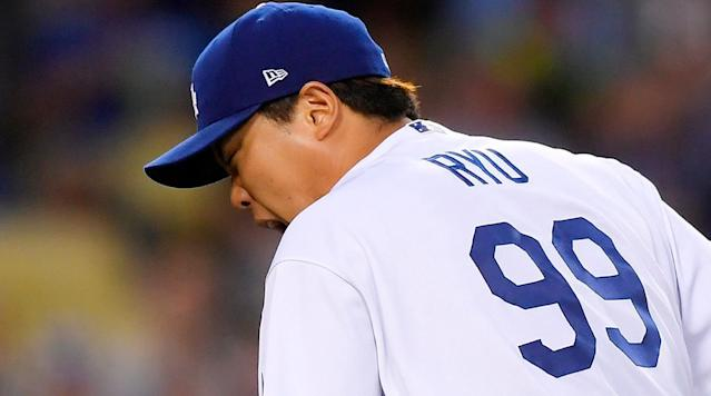 Dodgers' Hyun-Jin Ryu Leaves Start After Getting Hit by Line Drive
