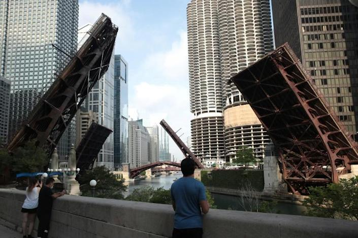Bridges in Chicago were raised to cut access to the city center after riots