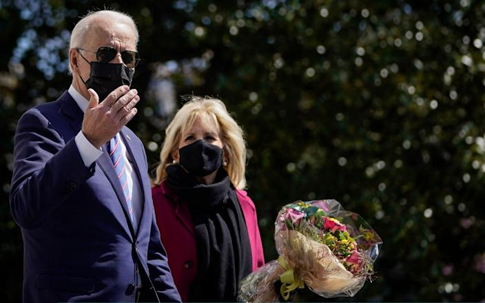 President Biden departs the White House with wife Jill for Easter weekend at Camp David - Getty