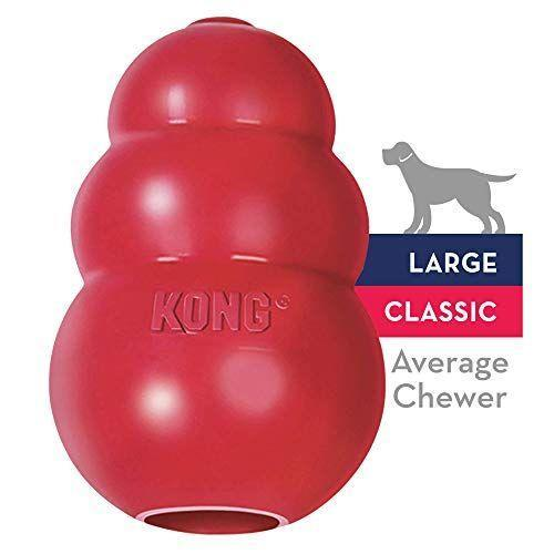 """<p><strong>KONG</strong></p><p>amazon.com</p><p><strong>$12.99</strong></p><p><a href=""""http://www.amazon.com/dp/B0002AR0I8/?tag=syn-yahoo-20&ascsubtag=%5Bartid%7C10070.g.36125697%5Bsrc%7Cyahoo-us"""" rel=""""nofollow noopener"""" target=""""_blank"""" data-ylk=""""slk:Shop Now"""" class=""""link rapid-noclick-resp"""">Shop Now</a></p><p>KONG has an entire line of popular toys, but the original version is still a favorite. The rubber is incredibly durable, satisfying the most extreme chewers. It can also be filled with treats to occupy your pet.</p>"""