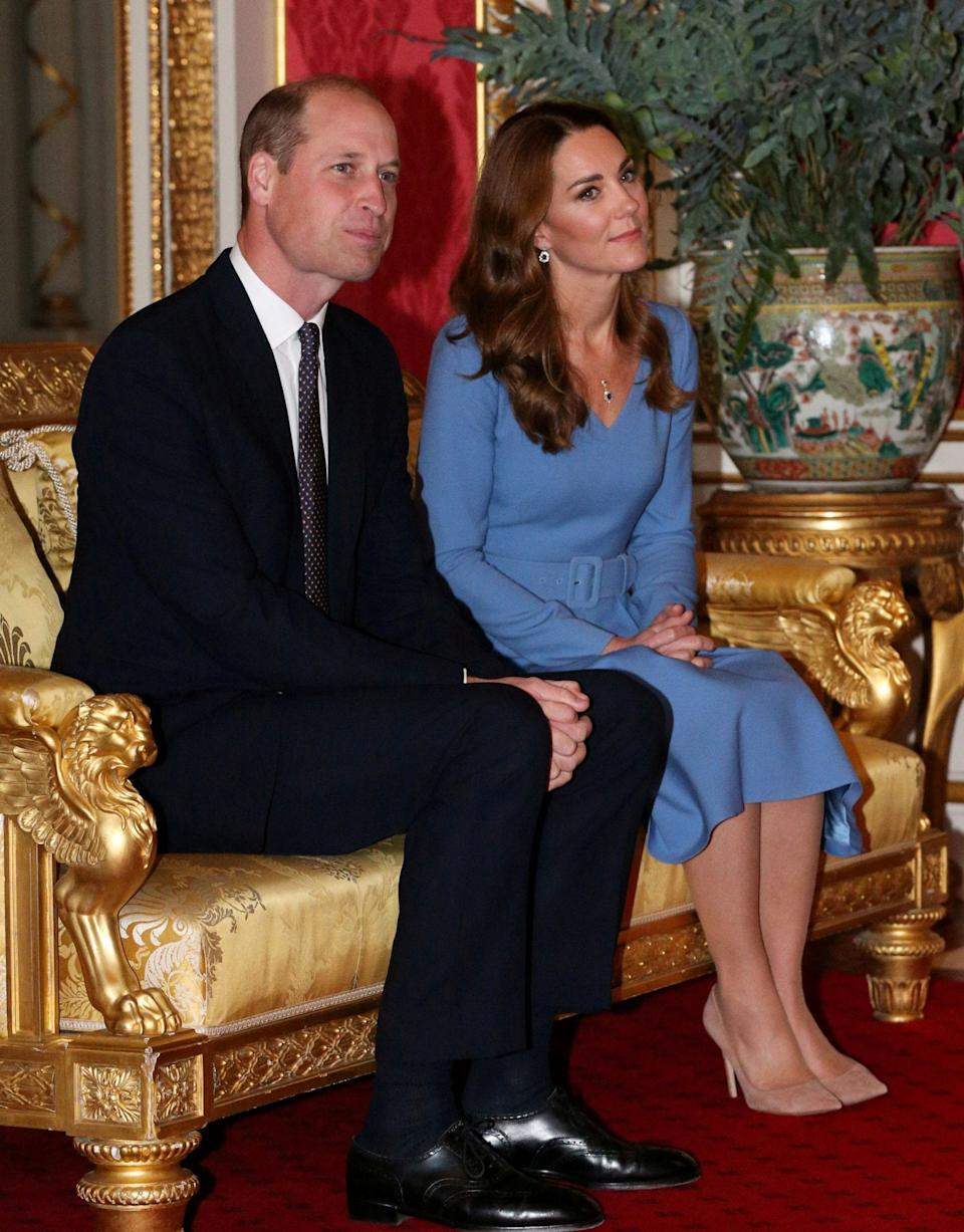 Kate's new dress reflects the colours of Ukraine's flag - Reuters