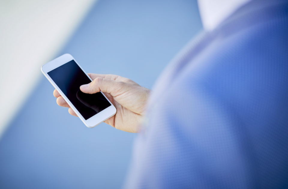 <em>Nearly half of people unlock their phones out of impulse (Rex/stock photo)</em>
