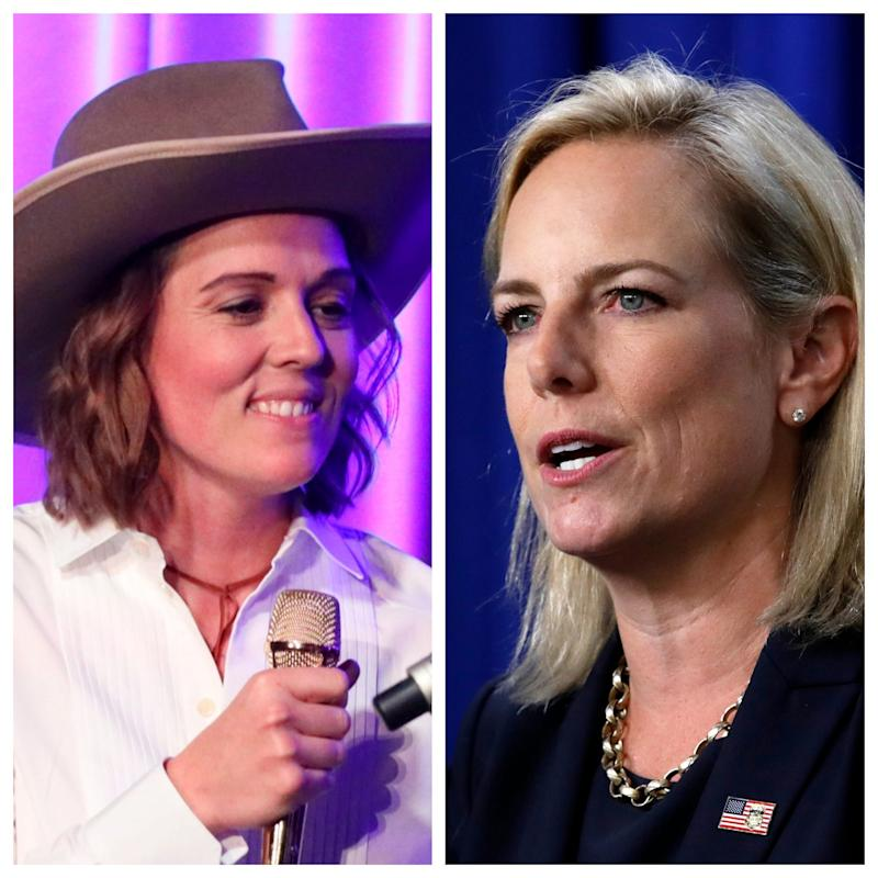 Brandi Carlile dropped out of the Fortune Most Powerful Women Summit over the involvement of President Trump's former Department of Homeland Security Secretary Kirstjen Nielsen.