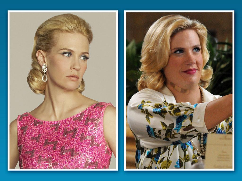 "Last week's episode of ""<a href=""http://tv.yahoo.com/mad-men/show/39828"">Mad Men</a>"" saw January Jones' Betty showing off a full-figured look that still has fans and critics divided on the polarizing character's weight gain transformation. It was later revealed that the petite star was wearing a fat suit and prosthetic face and neck appliances to make the former Mrs. Draper look heavier. That got us thinking about other TV stars who've donned fat suits for storyline purposes."