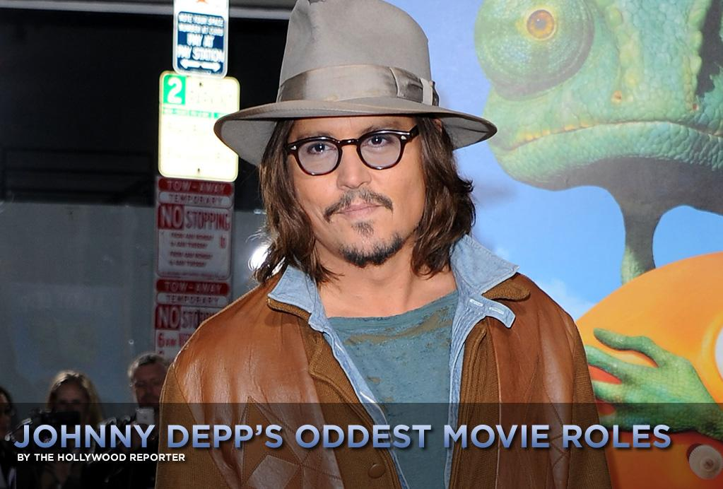 """Johnny Depp has found great success by choosing quirky movie roles, his latest being that of a chameleon in the animated Western Rango, which topped the box office this weekend with a $38 million opening. [Read The Hollywood Reporter's review of the movie <a href=""""http://www.hollywoodreporter.com/news/rango-163404"""">here</a>.]   <a href=""""http://movies.yahoo.com/news/usmovies.thehollywoodreporter.com/johnny-depps-oddest-movie-roles"""">Here are five of his oddest acting choices:</a>"""
