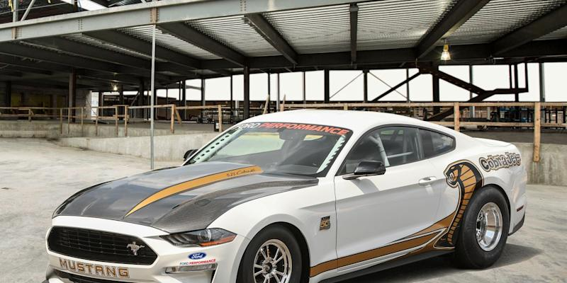 This is the new 2018 Mustang Cobra Jet, Ford's factory drag racer