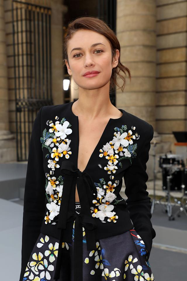 "PARIS, FRANCE - SEPTEMBER 28: Olga Kurylenko attends the ""Le Defile L'Oreal Paris"" show as part of Paris Fashion Week At Monnaie de Paris on September 28, 2019 in Paris, France. (Photo by Pierre Suu/Getty Images)"