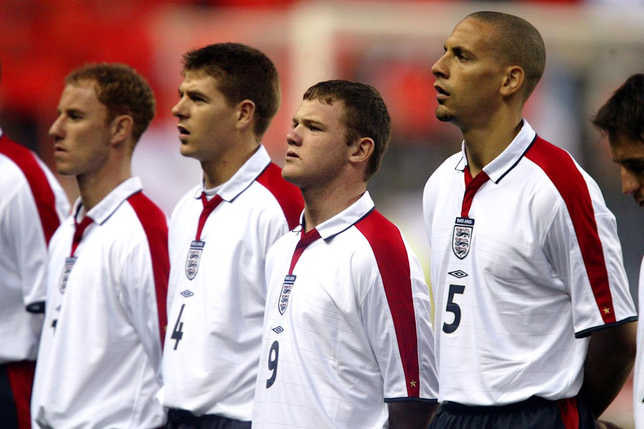 <p>Wayne Rooney's first England start came in April 2003 against Turkey. </p>