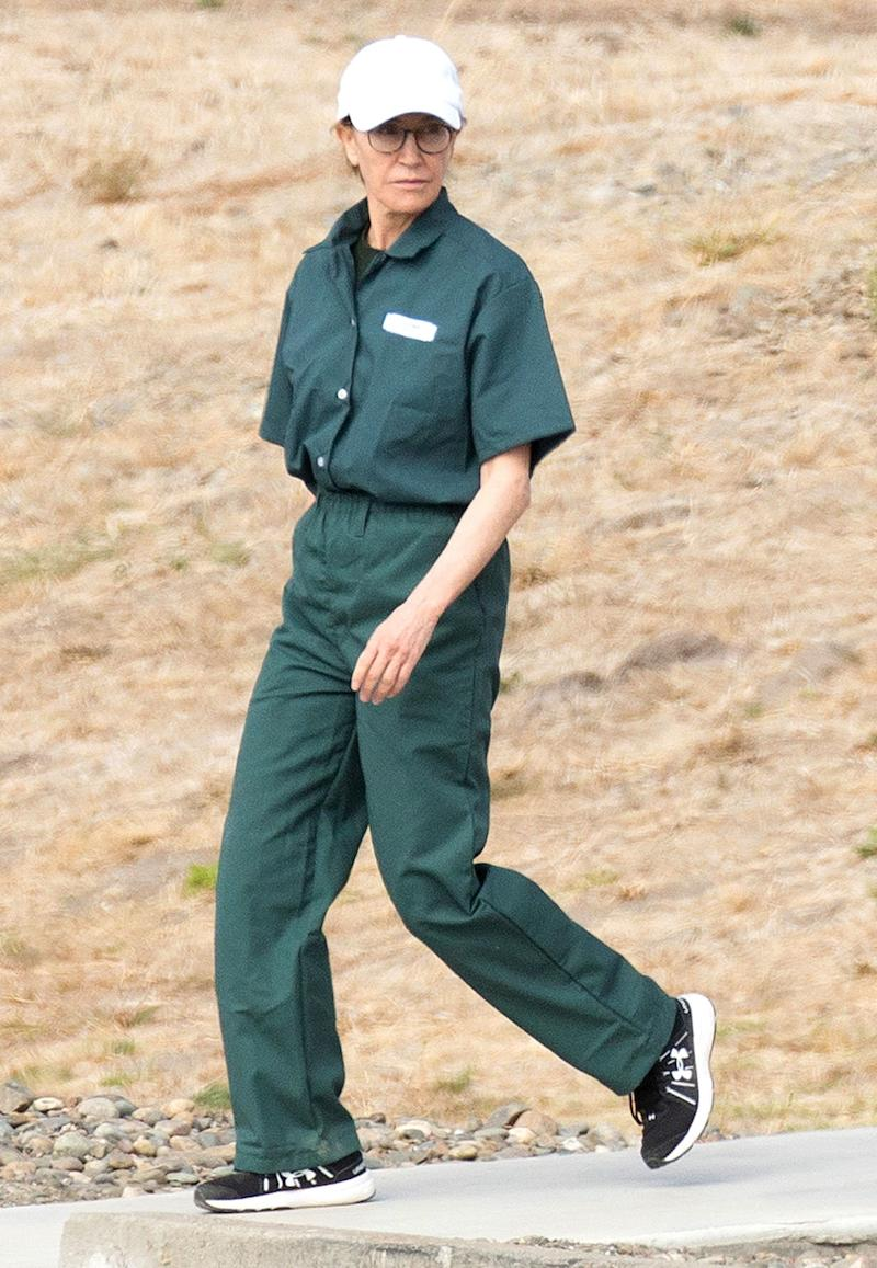 Felicity Huffman Seen in Her Prison Uniform for the First Time During Visit with Her Family