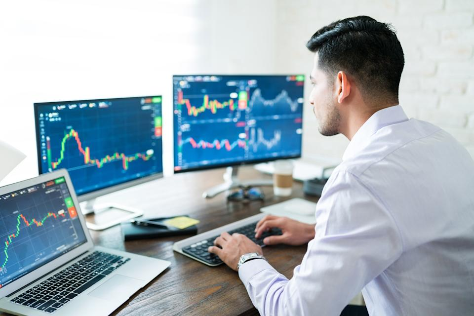 Day trading has exploded in popularity, boosted by both 2020's stimulus and pandemic as well as the GameStop situation. (Getty)