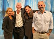 <p>Katie Couric and husband John Molner (far right) stop by a public exhibit by photographers and ocean conservationists Paul Nicklen and Cristina Mittermeier in partnership with digital platform Only One and SeaLegacy at NeueHouse in N.Y.C. </p>