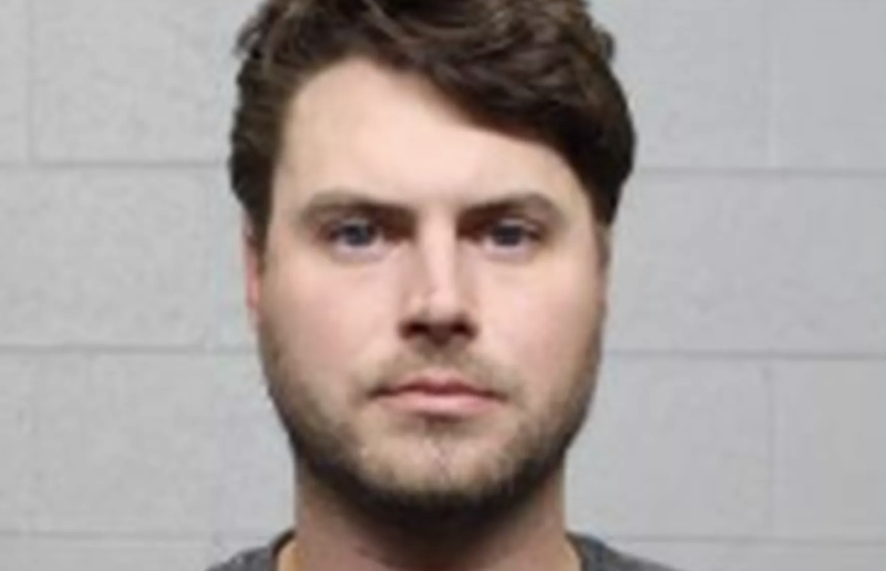 The man reportedly threw up his hands and apologised at the time. Source: Tulsa Municipal Jail