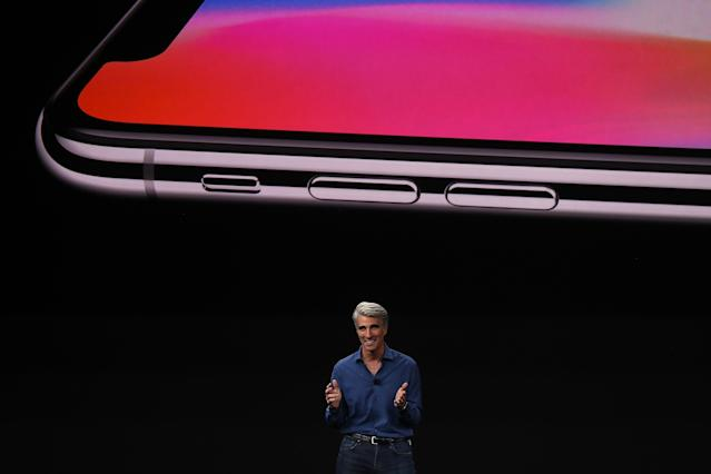<p>With the removal of the home button, Apple redesigned the side buttons for improved functionality. (Photo by Justin Sullivan/Getty Images) </p>