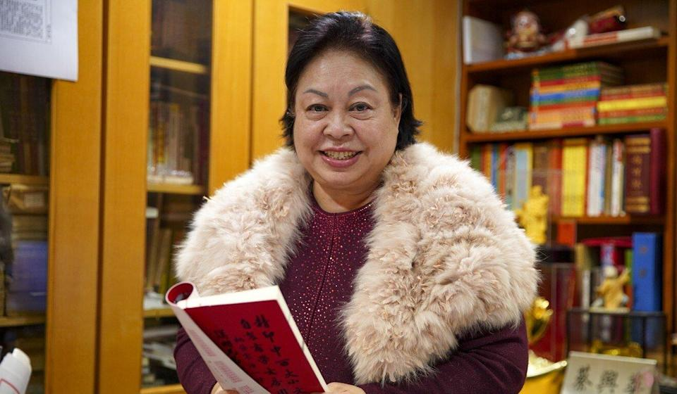Master astrologer Choi Hing-wah at her office in Sheung Wan. Photo: Winson Wong