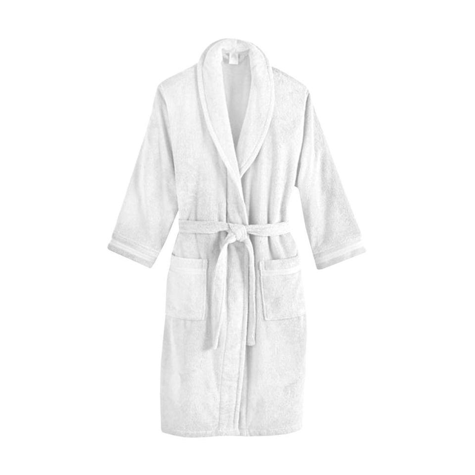 "<p><strong>Frette</strong></p><p>bedbathandbeyond.com</p><p><strong>$119.99</strong></p><p><a href=""https://go.redirectingat.com?id=74968X1596630&url=https%3A%2F%2Fwww.bedbathandbeyond.com%2Fstore%2Fproduct%2Ffrette-at-home-unisex-milano-terry-bathrobe%2F3257759&sref=https%3A%2F%2Fwww.bestproducts.com%2Flifestyle%2Fg3180%2Fterry-cloth-robes-for-men-women%2F"" rel=""nofollow noopener"" target=""_blank"" data-ylk=""slk:Shop Now"" class=""link rapid-noclick-resp"">Shop Now</a></p><p>If warmth is what you're really after, this extra thick cotton terry robe is ideal for <a href=""http://www.bestproducts.com/fitness/clothing/g596/fleece-lined-leggings-and-tights/"" rel=""nofollow noopener"" target=""_blank"" data-ylk=""slk:keeping you cozy through the colder seasons"" class=""link rapid-noclick-resp"">keeping you cozy through the colder seasons</a>. Its moisture-wicking, low-twist fabric is accented by unique stripe detailing on both sleeves and pockets, while a sophisticated shawl collar keeps the look classic.</p>"