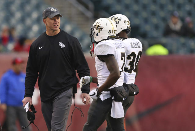 Will Central Florida head coach Scott Frost be able to keep his focus on Memphis with all the coaching carousel noise swirling around? (AP)