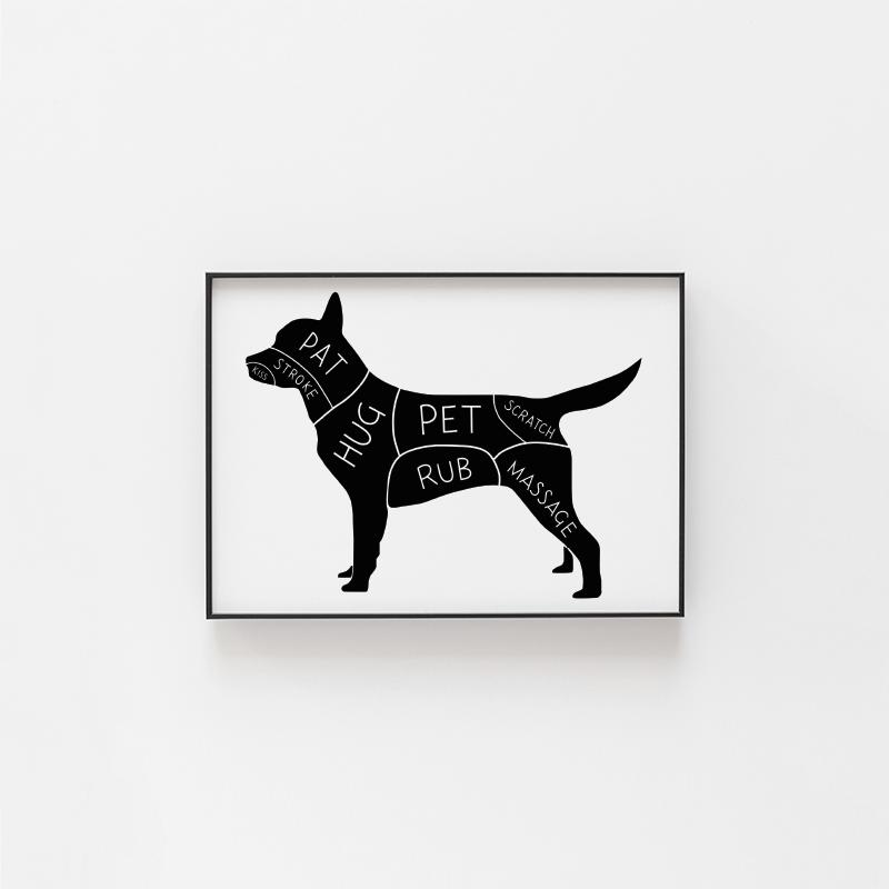 """If you know someone who owns a dog, chances are they're <i>crazy</i> about their pooch. This """"Guide to Dog Petting"""" archival print, designed and made in Toronto, is the perfect gift for dog lovers. <a href=""""https://www.gotamago.com/collections/all-products/products/guide-to-dog-petting-archival-print"""" target=""""_blank"""" rel=""""noopener noreferrer"""">Get it for $15 at Gotamago.</a>"""