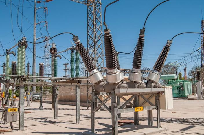 """<span class=""""caption"""">SF₆ insulates electrical installations, like this circuit breaker in a geothermal power plant substation.</span> <span class=""""attribution""""><a class=""""link rapid-noclick-resp"""" href=""""https://www.shutterstock.com/image-photo/sf6-circuit-breaker-substation-geothermal-power-1179514285"""" rel=""""nofollow noopener"""" target=""""_blank"""" data-ylk=""""slk:VG Foto/Shutterstock"""">VG Foto/Shutterstock</a></span>"""