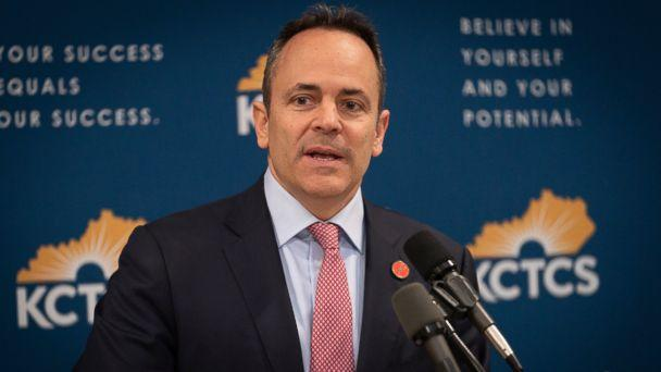 PHOTO: In this Feb 28, 2019, file photo, Kentucky Gov. Matt Bevin speaks in the Capitol building in Frankfort, Ky. (AP)