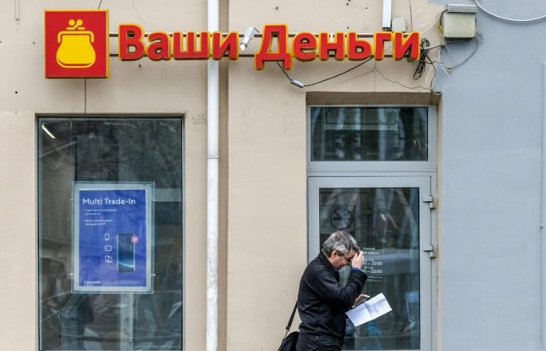 (Russians tempted by loans from the likes of pictured Moscow payday lender VashiDengi find once they are lured in it can be hard to get back on an even financial keel