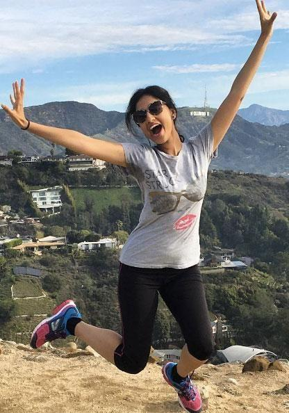 Alicia from the Be team tried out the popular Runyon Canyon hike in LA. Source: Supplied