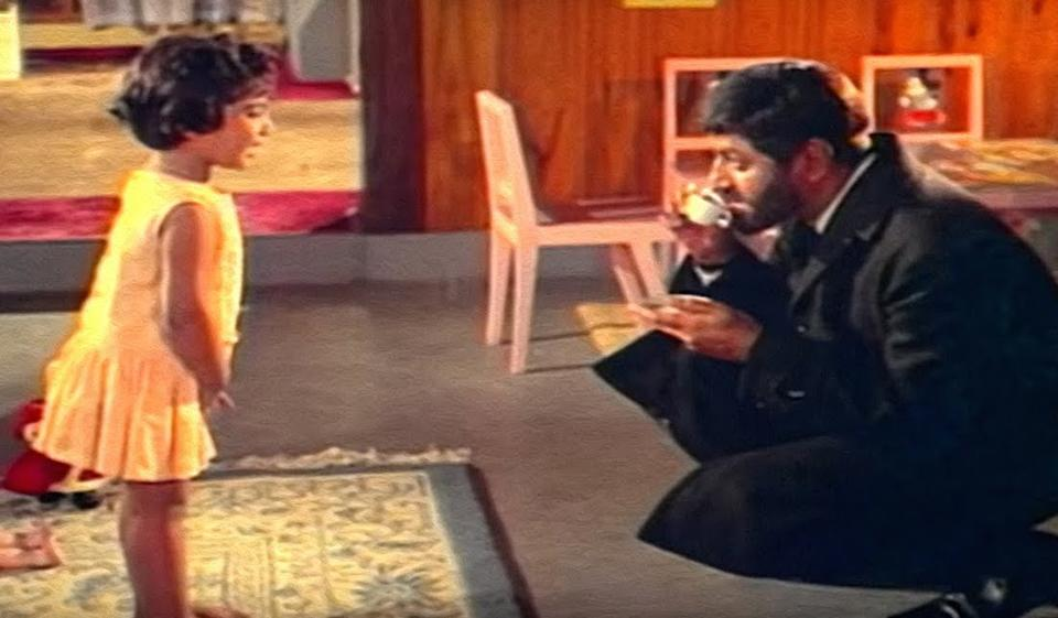 When a little girl enters their lives, three hardened criminals embark on a path of transformation. Pran played one of the leads along with Anwar Hussain and Ajit.