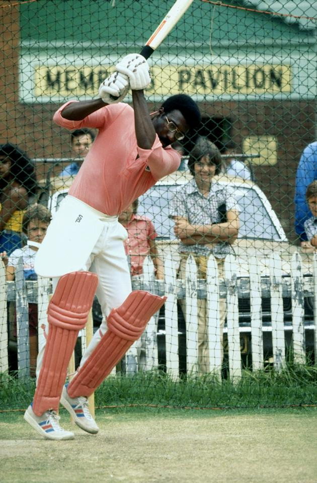 Jun 1979:  Clive Lloyd of the West Indies practices in the nets at the Sydney Cricket Ground in Australia. \ Mandatory Credit: Adrian  Murrell/Allsport