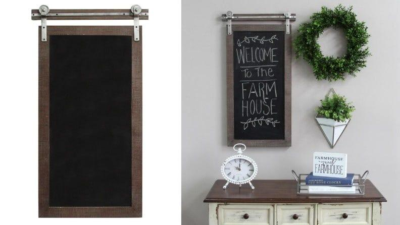 How cute is this rustic chalkboard?