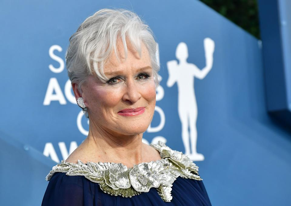 US actress Glenn Close arrives for the 26th Annual Screen Actors Guild Awards at the Shrine Auditorium in Los Angeles on January 19, 2020. (Photo by Frederic J. Brown / AFP) (Photo by FREDERIC J. BROWN/AFP via Getty Images)