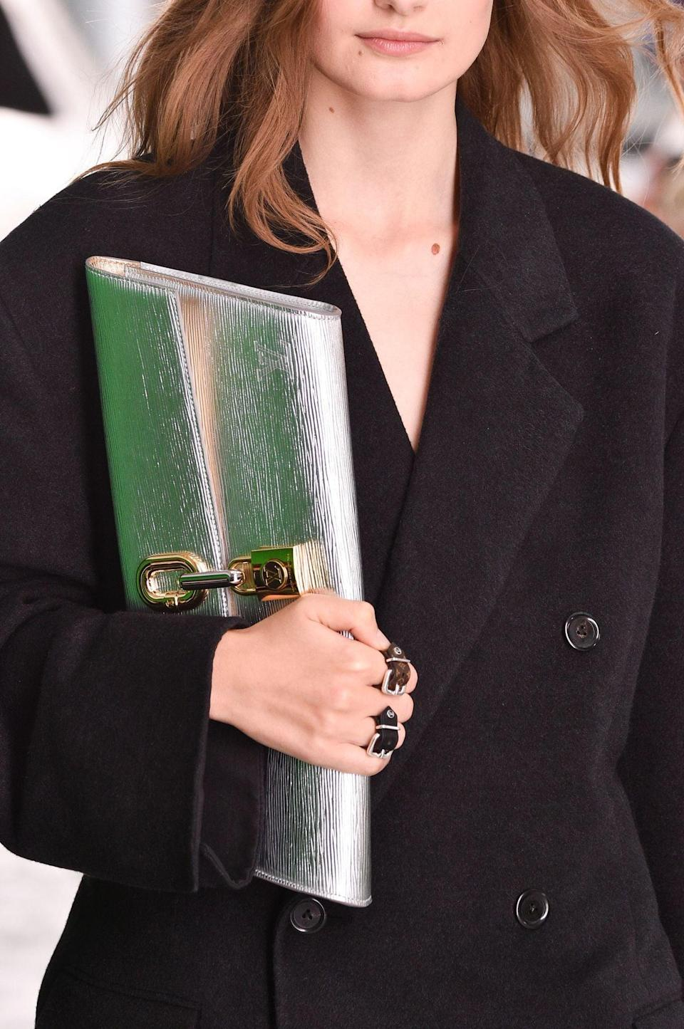 <p>A bag from the Louis Vuitton spring/summer 2021 runway.</p>