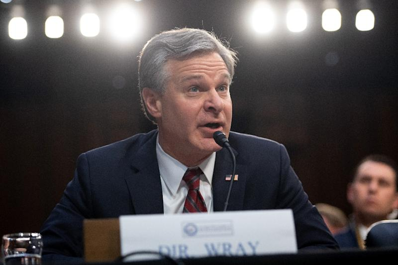 Christopher Wray, director of the Federal Bureau of Investigation, says the FBI has dozens of investigations into alleged Chinese economic espionage