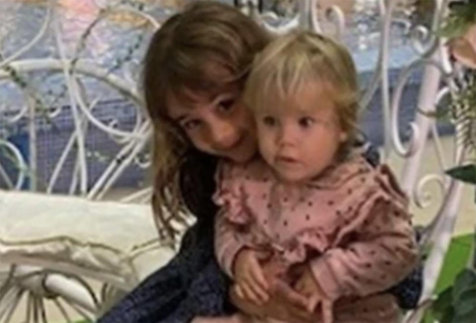 Anna Zimmermann, 1, is seen with her six-year-old sister, Olivia.