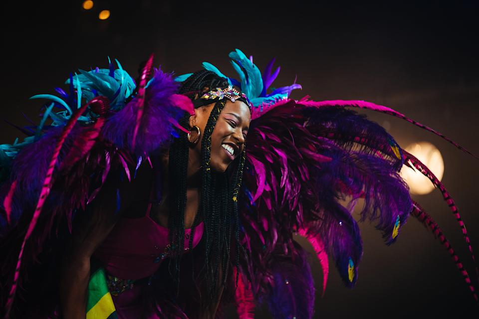 Gabrielle Brooks in J'Ouvert which started at Theatre 503 (Helen Murray)