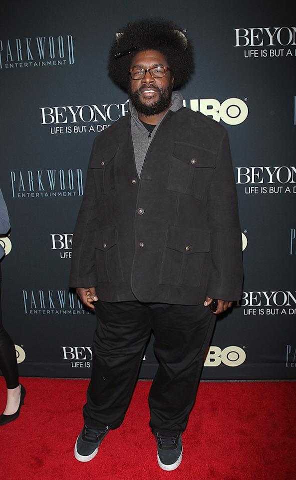 "Questlove attends the ""Beyonce: Life Is But A Dream"" New York Premiere at Ziegfeld Theater on February 12, 2013 in New York City."