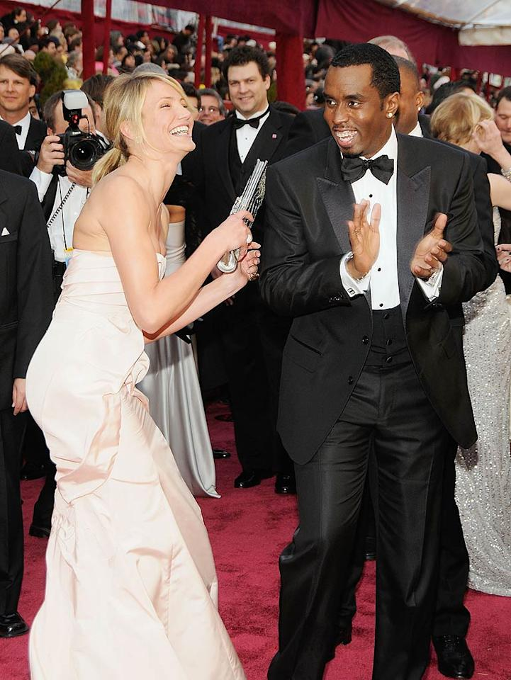 """""""Cameron Diaz and Diddy are hooking up!"""" reports <em>Us Weekly.</em> The mag says they """"had their hands all over each other"""" during a dinner in New York, and were """"making out"""" days later over lunch in Beverly Hills. For how serious they've already become, and when they plan on making their romance public, check out what Diaz's friend reveals to <a target=""""_blank"""" href=""""http://www.gossipcop.com/cameron-diaz-diddy-hooking-up-dating-cheating-cassie/"""">Gossip Cop.</a>"""