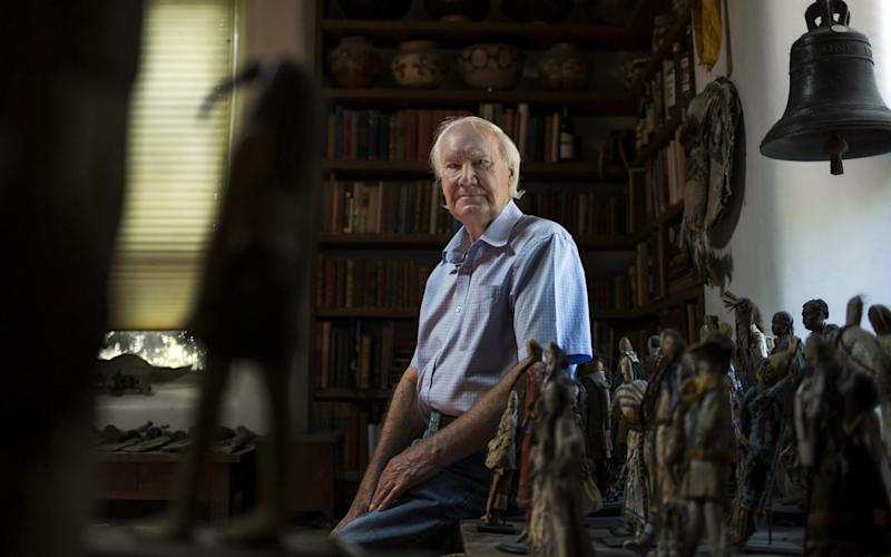 """Forrest Fenn at his home, described as a """"museum slash lair"""" full of Native American artifacts - NICK COTE"""