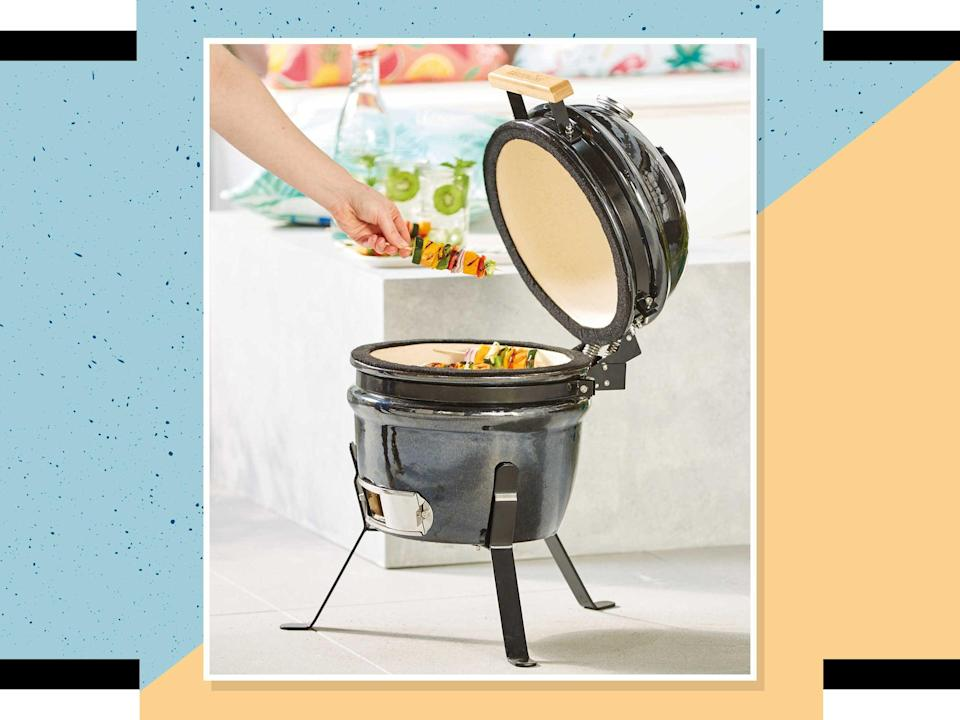 This adorable egg barbecue is compact enough for any garden space  (iStock/The Independent)