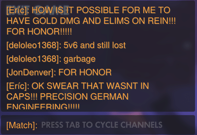 'Overwatch April Fools' Day: Reinhardt Chat Filter, FOR HONOR!!!!