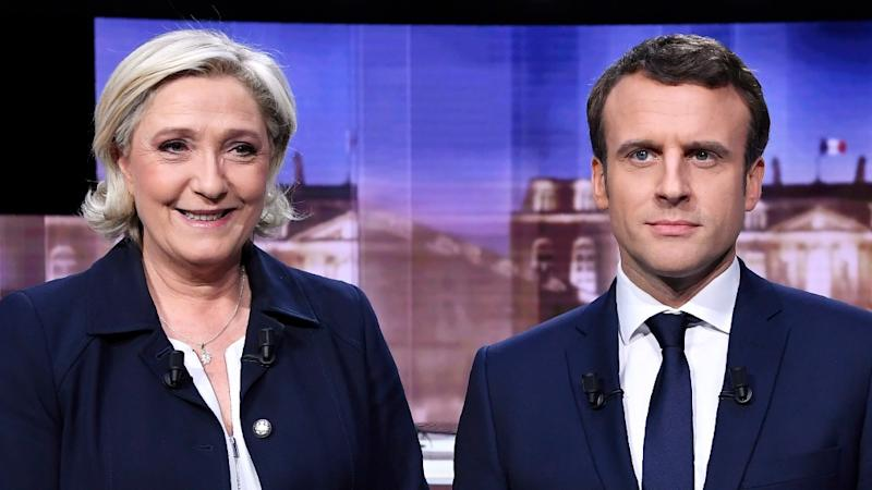Macron, Le Pen Clash in Bad-Tempered French Pre-Poll TV Showdown