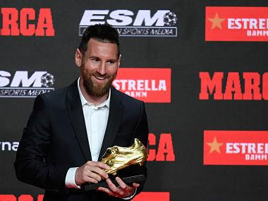 Lionel Messi awarded sixth Golden Shoe for scoring most goals in European leagues