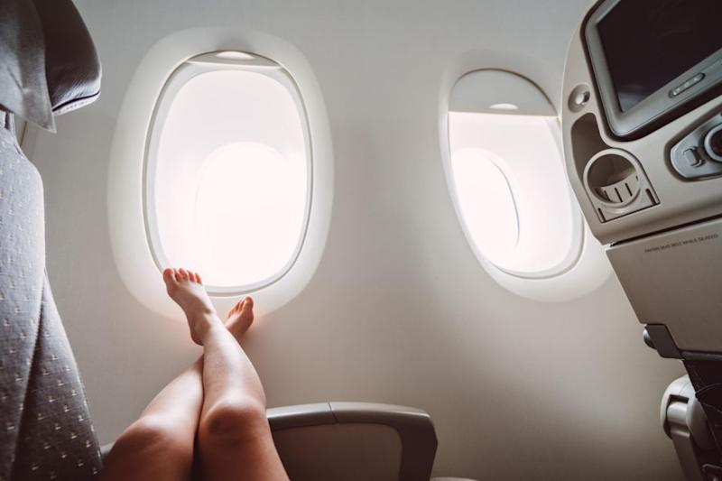 Feet is what annoys passengers and crew the most. Photo: Getty
