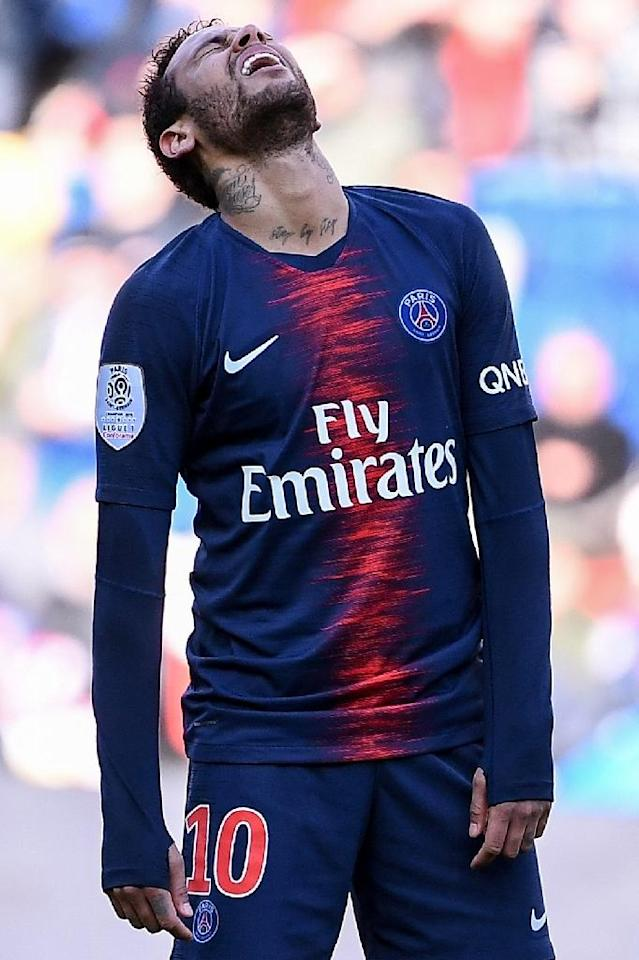 Neymar missed 27 of PSG's 58 games across all competitions this season (AFP Photo/Anne-Christine POUJOULAT)