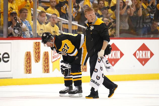 Penguins star Sidney Crosby diagnosed with concussion, out for Game 4
