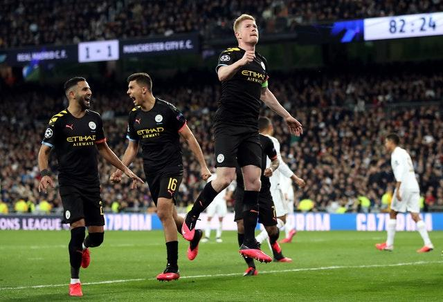 City claimed a stunning victory at the Bernabeu