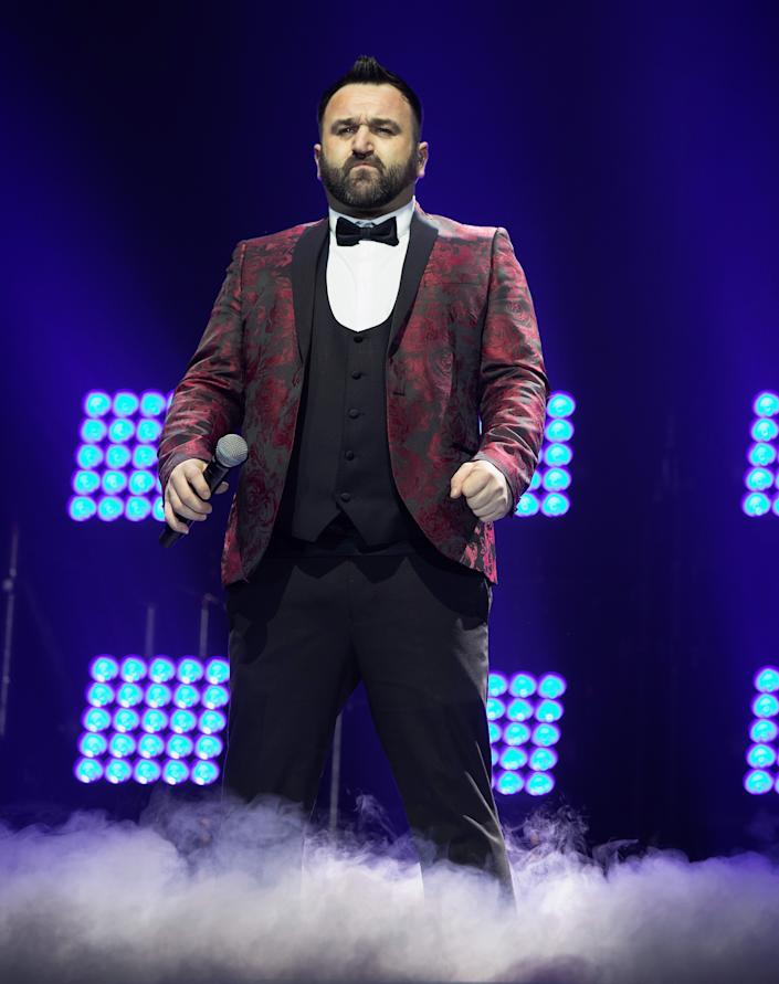 LONDON, ENGLAND - FEBRUARY 23: Danny Tetley performs during the X Factor Live Tour at SSE Arena on February 23, 2019 in London, England. (Photo by Jo Hale/Redferns)