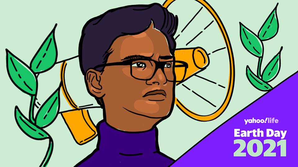 Kevin Patel, founder of One Up Action. (Illustration: Nathalie Cruz for Yahoo Life)