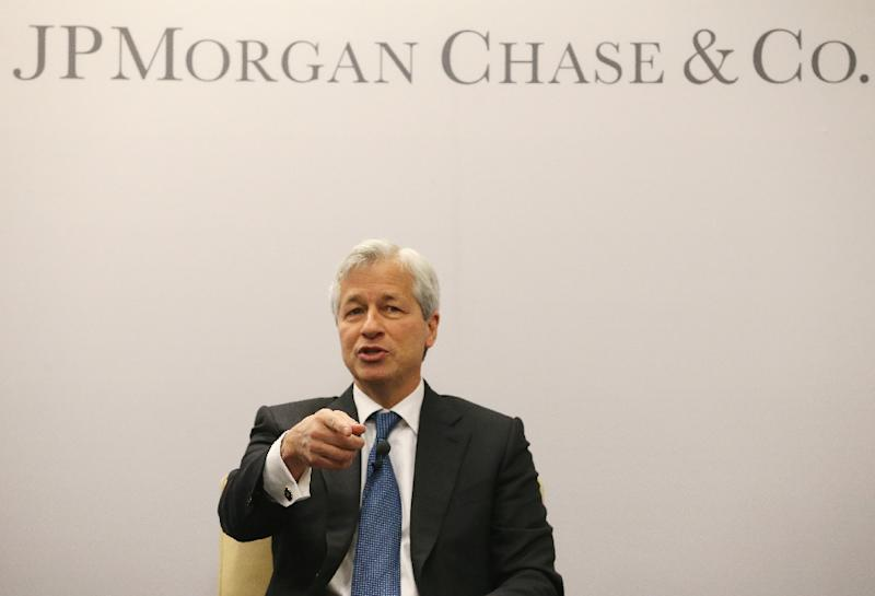 Jamie Dimon has said JP Morgan Chase could move 4,000 jobs out of Britain if it leaves the EU (AFP Photo/Mark Wilson)