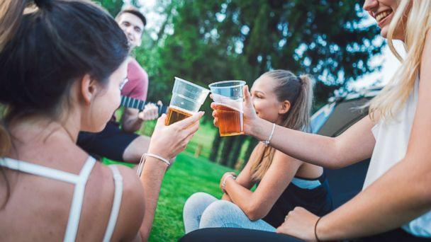 PHOTO: Young people drink beer outdoors in an undated stock photo. (STOCK PHOTO/Getty Images)