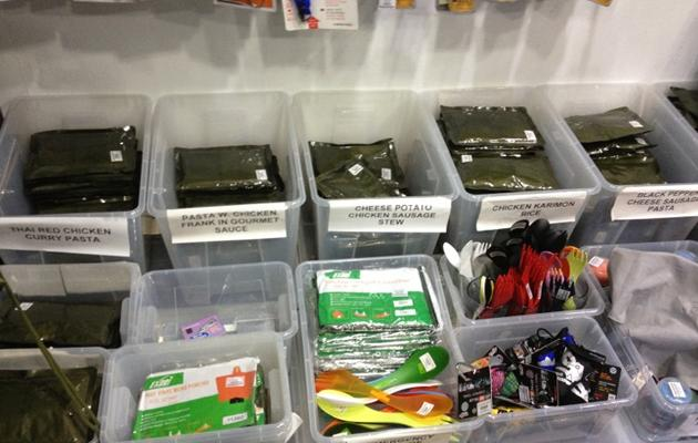 Purchases for survival equipment at Black Tactical has increased 20% over the past year, especially for items like combat rations. (Yahoo! photo)